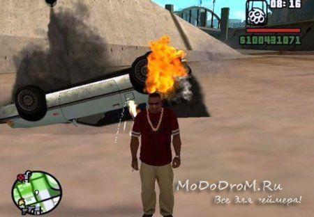 Реалистичное сгорание автомобиля в Gta SA