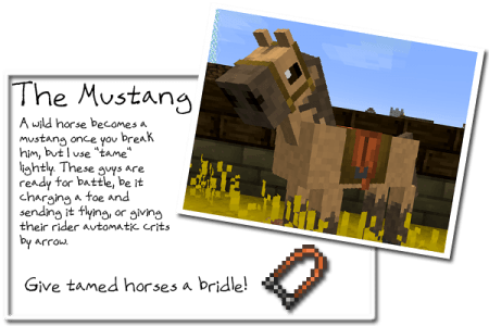 Лошади для Minecraft 1.7.10 1.8 1.7.2 1.6.4 1.5.2