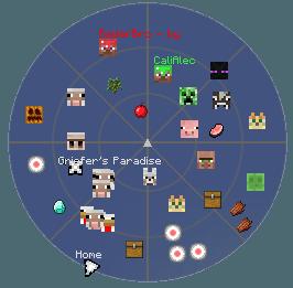 Скачать радар для Minecraft 1.7.10 1.7.4 1.7.2 1.6.4 1.6.2 1.5.2