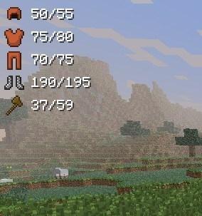 Armorstatushud для Minecraft 1.7.10 1.8 1.7.2 1.6.4 1.5.2