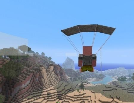 Parachute mod для Minecraft 1.7.10 1.7.4 1.7.2 1.6.4 1.6.2 1.5.2