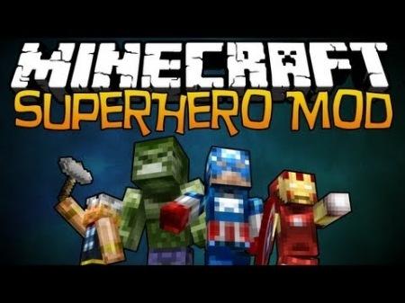 Super Heroes Mod для Minecraft 1.7.10 1.7.4 1.7.2 1.6.4 1.6.2 1.5.2