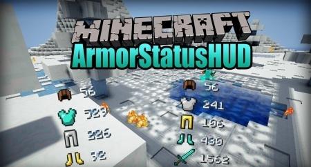 Armor Status HUD для Minecraft 1.8 1.7.10 1.7.2 1.6.4 1.5.2