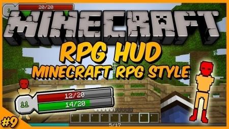 RPG Hud mod ��� Minecraft 1.7.10 1.8 1.7.2 1.6.4 1.5.2