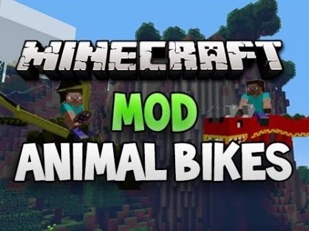 Мод Animal Bikes для Minecraft 1.7.10 1.7.4 1.7.2 1.6.4 1.6.2 1.5.2