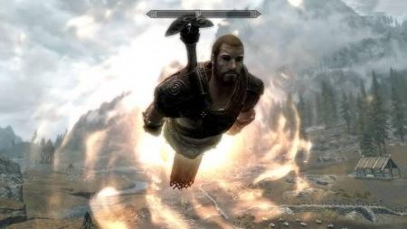 Мод позволяющий летать Skyrim