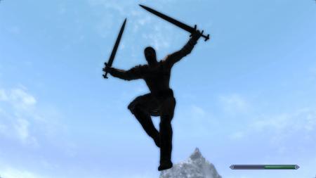 Анимация прыжка для Skyrim