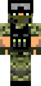 Скачать скин солдата для Майнкрафт