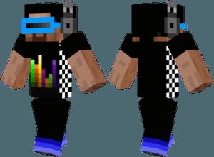 Скин диджея для Minecraft