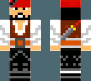 Скин пирата для Minecraft