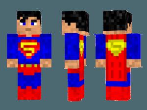 Скин супермена для Minecraft