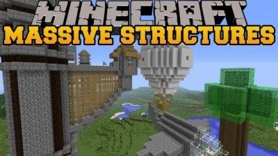 Instant Massive Structures для Minecraft 1.15 1.14.4 1.14 1.13.2 1.12.2
