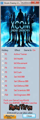 XCOM 2 Trainer